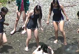 長野県のキャンプ場で見つけた林間学校中の少女たちを順番に輪姦!