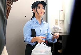 【素人】親の借金を返すためにカラダを売りに来たコ○イチの巨乳店員