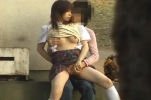 盗撮 いつもの公園で青姦する学生たち
