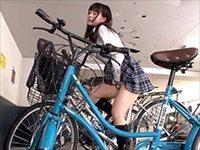 自転車のサドルにこっそり媚薬を仕込んだら…
