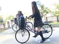 自転車通学の女子校生を狙う痴漢