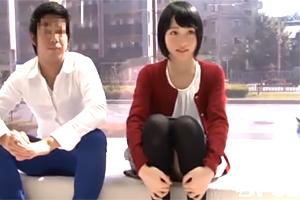 【素人】男友達と初々しいエッチする乃木坂に居そうな黒髪ショート女子大生