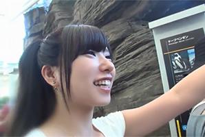 【素人】GWの水族館デートでポニテが可愛いショップ店員を落としてハメ撮り!