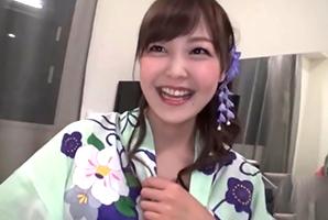 【素人】千葉の夏祭りでナンパした日テレ・水卜アナ似の美女を浴衣姿のままハメ撮り!