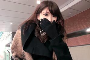 【素人】真冬の静岡駅でナンパした黒の革手袋が上品なこじはる似の美人営業OL