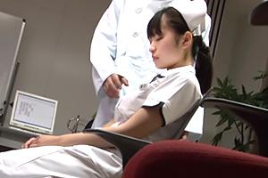まだ慣れない夜勤中に居眠りする少女美巨乳の新人看護師を強姦☆